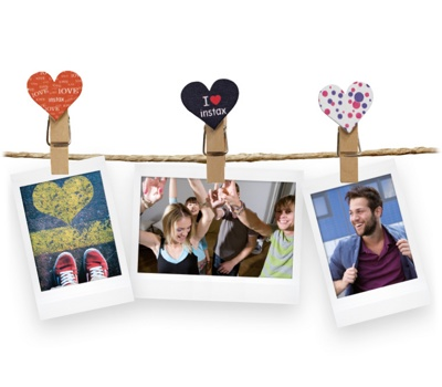 Прищепки Fujifilm Instax Mini Clips Heart